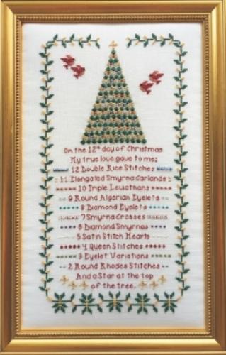 12 Days Of Christmas Cross Stitch.12 Days Of Christmas Cross Stitch Chart